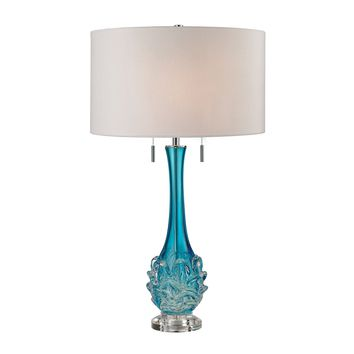 D2666W Vignola Free Blown Glass Table Lamp in Blue - Free Shipping!