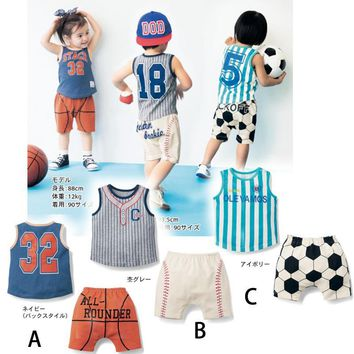 Russia 2018 costume world cup football basketball baseball fans baby cotton sets for kids
