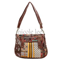 LIZZY GEOMETRY AND FLOWERS MESSENGER BAG - NIKKY