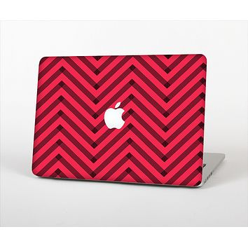 The Red & Black Sketch Chevron Skin Set for the Apple MacBook Air 13""