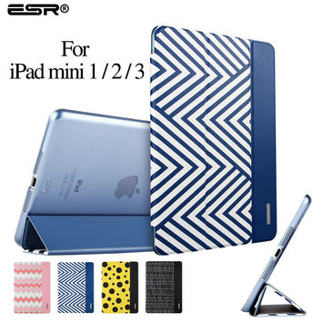 Ultra Slim Version Trifold Flip Case Smart Cover Auto Wake Up/Sleep Function for iPad mini 1/2/3