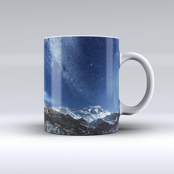 The Starry Mountaintop ink-Fuzed Ceramic Coffee Mug