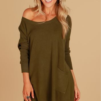 Knit The Spot Sweater Olive