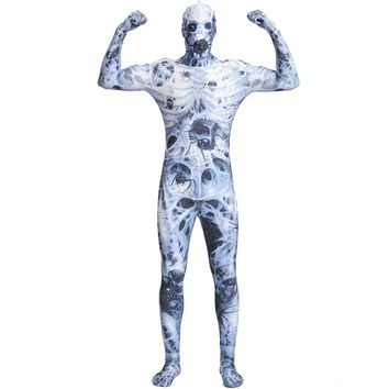 LZCMsoft Spider Zombies Cosplay Costumes Men Halloween Zentai Suits Lycra Spandex Full Bodysuits Funny Scary Clothes