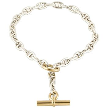 Hermes Chaine d'Ancre 18 Karat Sterling Necklace