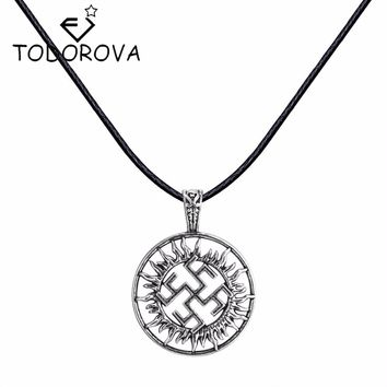 Todorova Valkyrie Pendant Jewelry Pagan Amulet Slavic Symbol Talisman Pendant Norse Occult Pendant Germanic Men Necklace
