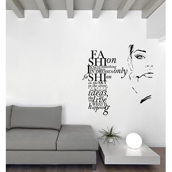 Large Vinyl Wall Decal Fashion Quote with Girl Modern Sticker Art Unique Gift (n1149)