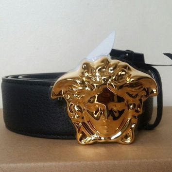 Versace Palazzo Belt With Medusa Gold Buckle size 85-100