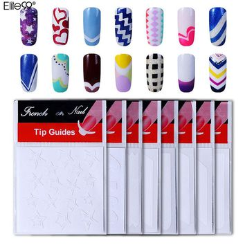 Elite99 French Manicure Nail Art Form Finger Guides Sticker French Nail Tips Guides DIY Stencil Decal Decoration Manicure Tools
