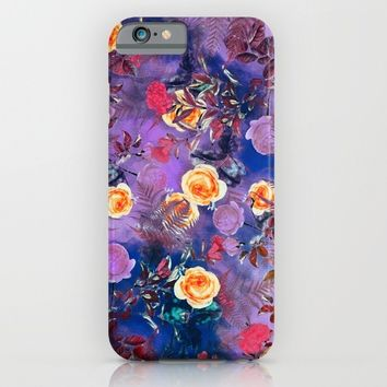 flowers purple iPhone & iPod Case by jbjart