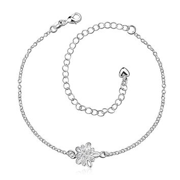 Crystal Stone Orchid Petite Anklet
