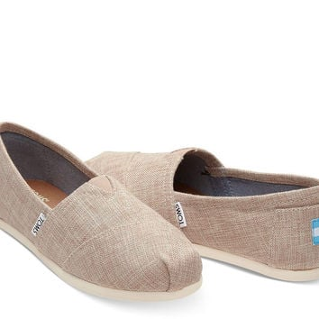 TOMS Classic Pale Pink Lurex Woven