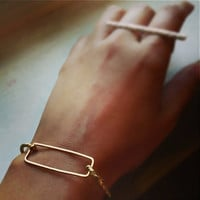 Rectangular Rope Bracelet