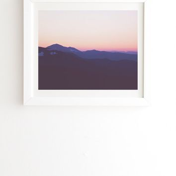 Catherine McDonald Colorado Sunset White Framed Wall Art | Deny Designs