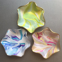 Mini Marbled Jewelry Dishes, Polymer Clay, Modern Trinket Bowls, Ring Holders, Key Containers, Handmade Jewelry Holders, Gifts for Women
