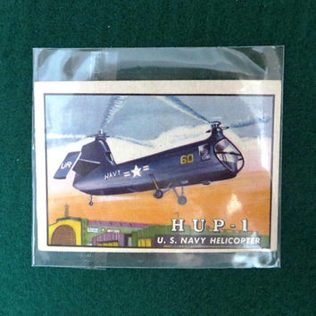 TOPPS Wings Trading Card, Vintage Helicopter Collectible Card, Card Number 19, 1952 Collectors Card