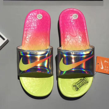 Nike Woman Men Fashion Casual Multicolor Sandals Slipper Shoes Rose Red