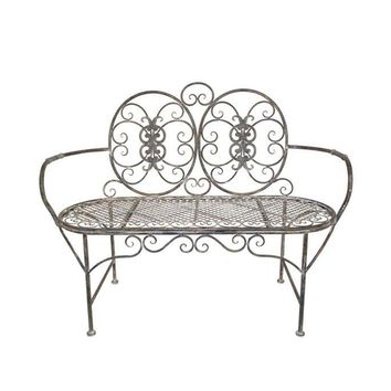 Home Decorators Collection Hayden Antique Grey 47 in. Garden Patio Bench-0978700270 at The Home Depot