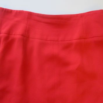 Giorgio Armani Couturier Italy Red Skirt Size 44