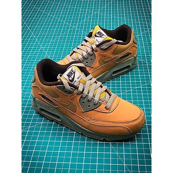 Nike Air Max 90 Yellow Sport Running Shoes - Sale