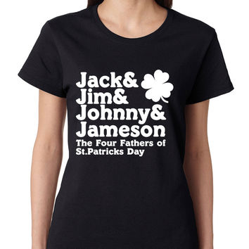 The four fathers of st patricks day women T-shirt