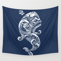 The White Whale Wall Tapestry by Peter Kramar