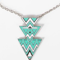 BKE Triangle Pendant Necklace