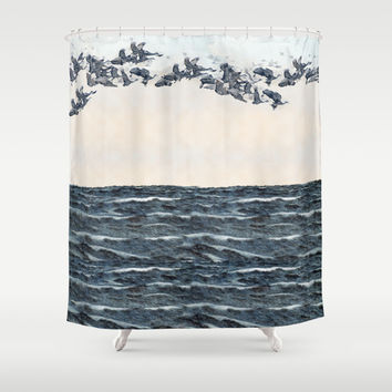 Old men should be explorers Shower Curtain by Anipani