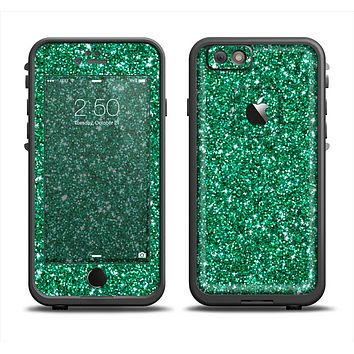 The Green Glitter Print Apple iPhone 6 LifeProof Fre Case Skin Set