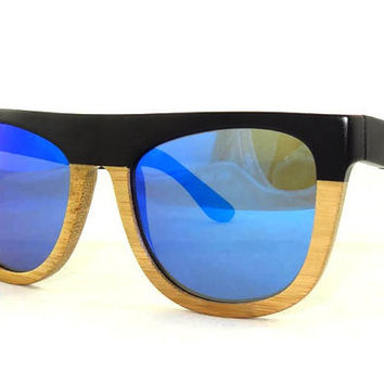 Fashion Half Black Polarized Bamboo sunglasses