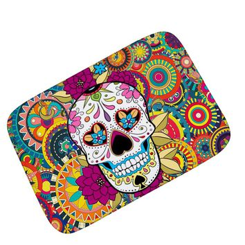 Floor Mat Sugar Skull Carpet Creative festivals Decoration Floormats Fleece Floor Carpets Porch Rugs