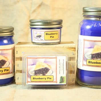 Blueberry Pie Candle, Scented Candles and Wax Melts, Highly Scented Bakery Candles and Wax Tarts, Yummy Scent, Great for Housewarming Gift