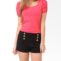 FOREVER 21 Scoop Back Bow Top Coral Large