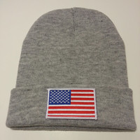 USA Flag Made in America Beanie