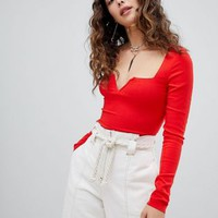 Free People Zoe V Bodysuit at asos.com