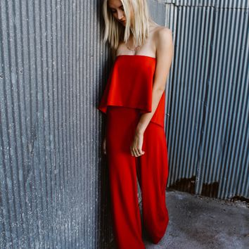 Parker Red Jumpsuit