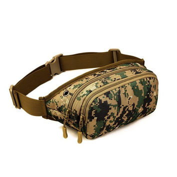 Men Women Tactical Mobile Music Pockets Waterproof Waist Bag Capacity Running Hiking Shoulder Bag