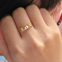 Gift -  Name Ring - Any Initial Ring - Sterling Silver