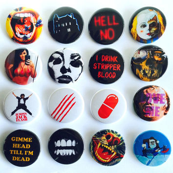 Obscene Lot of Sixteen 1.75-inch Pinback Buttons