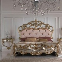 Gold And Silver Gold Leaf Bedroom Furniture - Top and Best Classic Furniture and Classical interior Design Italian Companies