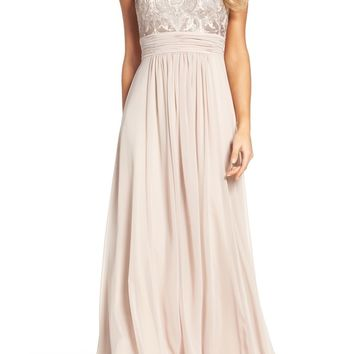 Eliza J Lace Bodice Gown (Regular & Petite) | Nordstrom