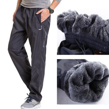 Grandwish Men's Fleece Warm Straight Sweatpants