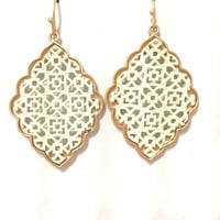 Buckland Two Tone Earrings