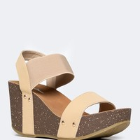 Birch Strappy Wedges