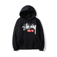 Stussy&Supreme Unisex Winter Hot Sale Round-neck Casual Hoodies