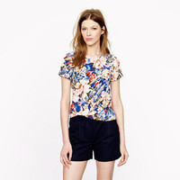 Silk tee in Mai Tai floral - shirts & tops - Women's new arrivals - J.Crew