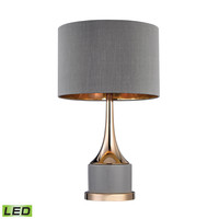 D2748-LED Small Gold Cone Neck LED Lamp - Free Shipping!