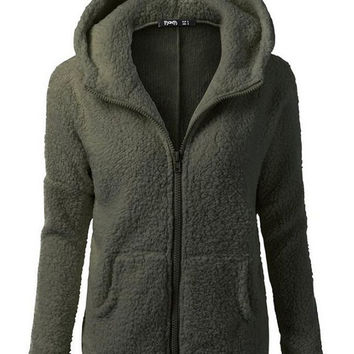 Fleece Hooded Outerwear