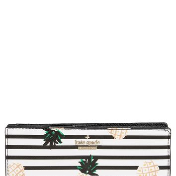 kate spade new york cameron street - stacy pineapples glazed canvas wallet | Nordstrom