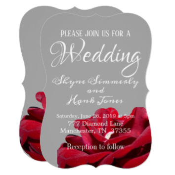 Marsala Burgundy Red Elegant Wedding Invitations